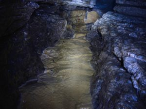 I segni dell'acqua all'interno del percorso esperti