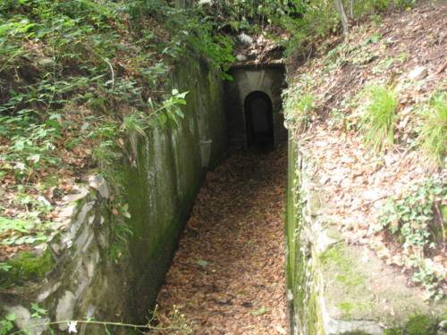 l'ingresso all'osservatorio del monte marzio della linea Cadorna